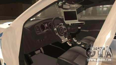 Dodge Charger Detroit Police 2013 pour GTA San Andreas vue intérieure