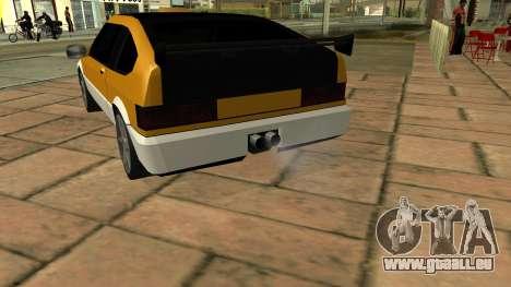 New Blista Compact pour GTA San Andreas sur la vue arrière gauche