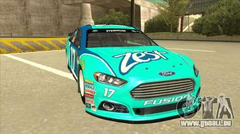Ford Fusion NASCAR No. 17 Zest Nationwide für GTA San Andreas linke Ansicht