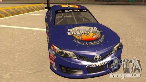 Toyota Camry NASCAR No. 87 AM FM Energy pour GTA San Andreas laissé vue