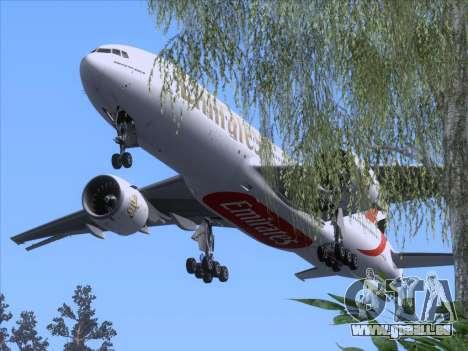 Boeing 777-21HLR Emirates pour GTA San Andreas vue de dessus