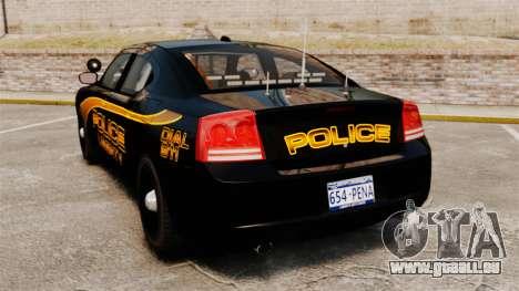 Dodge Charger 2008 LCPD Slicktop [ELS] pour GTA 4 Vue arrière de la gauche
