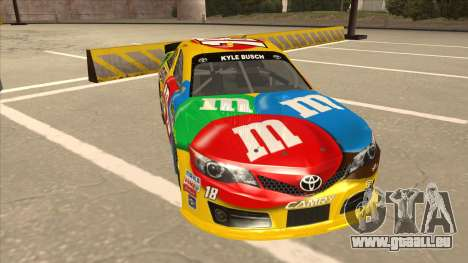 Toyota Camry NASCAR No. 18 MandMs für GTA San Andreas linke Ansicht