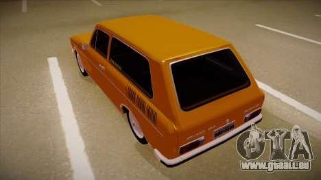 VW Variant 1972 pour GTA San Andreas vue arrière