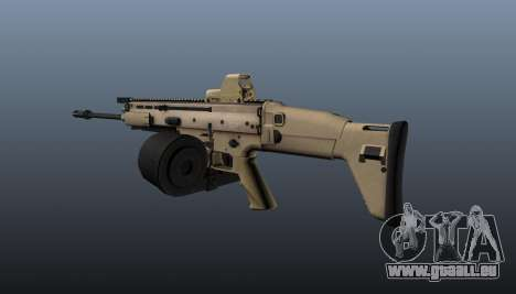 FN SCAR-H-Maschinengewehr LMG für GTA 4 Sekunden Bildschirm