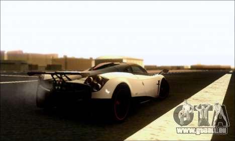 Pagani Huayra Cinque für GTA San Andreas rechten Ansicht
