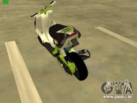 Yamaha Aerox pour GTA San Andreas laissé vue