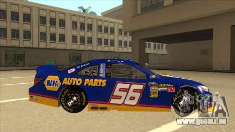Toyota Camry NASCAR No. 56 NAPA pour GTA San Andreas sur la vue arrière gauche
