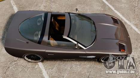 Coquette Targa pour GTA 4 Vue arrière de la gauche