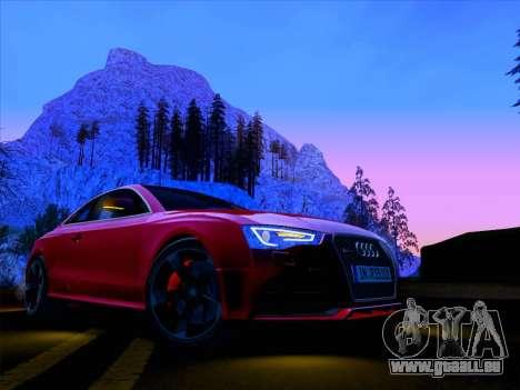 Audi RS5 2012 pour GTA San Andreas vue intérieure
