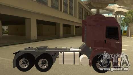 Volkswagen Constellation 25.370 Tractor für GTA San Andreas zurück linke Ansicht