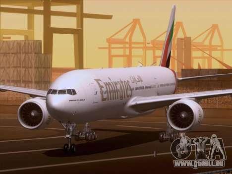Boeing 777-21HLR Emirates pour GTA San Andreas laissé vue