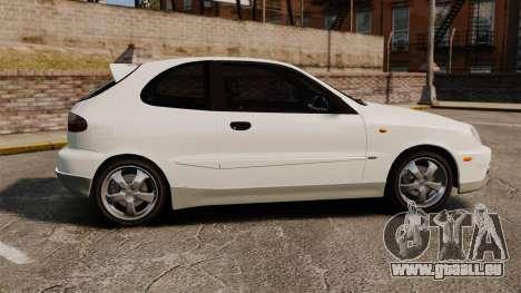 Daewoo Lanos GTI 1999 Concept pour GTA 4 est une gauche