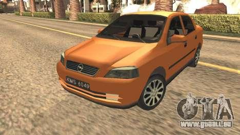 Opel Astra 1.6 TDi SEDAN pour GTA San Andreas sur la vue arrière gauche