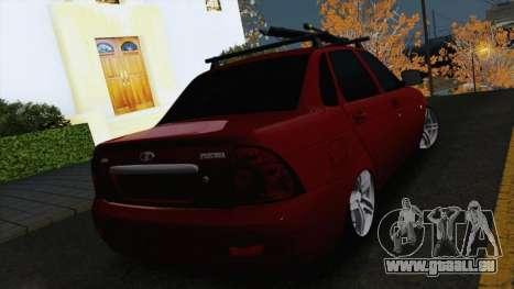 VAZ Lada Priora 2170 pour GTA San Andreas sur la vue arrière gauche