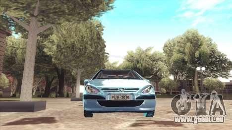 Peugeot 307 pour GTA San Andreas vue de droite