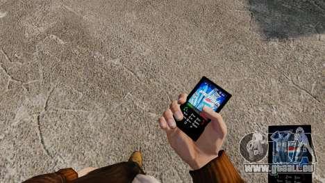 Thèmes pour les boissons de marques de téléphone pour GTA 4 troisième écran
