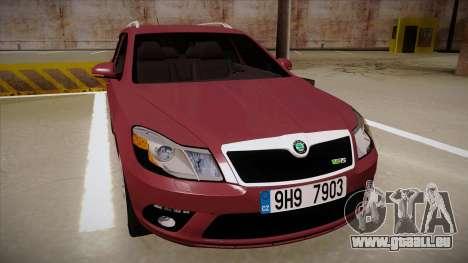 Skoda Octavia RS 2010 Combi pour GTA San Andreas laissé vue