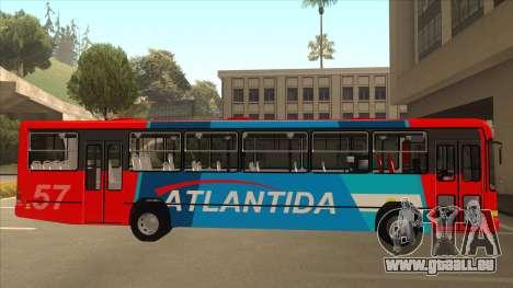 Marcopolo Torino G6 Linea 57 Atlantida pour GTA San Andreas sur la vue arrière gauche