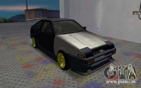 Toyota AE86 Street Drift pour GTA San Andreas laissé vue