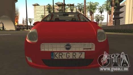 Fiat Grande Punto pour GTA San Andreas laissé vue