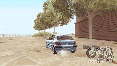 Peugeot 307 pour GTA San Andreas sur la vue arrière gauche