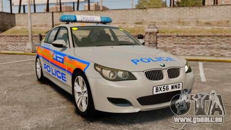 BMW M5 E60 Metropolitan Police 2006 ARV [ELS] pour GTA 4