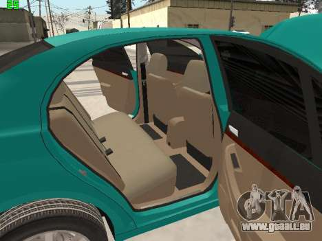 Toyota Avensis 2.0 16v VVT-i D4 Executive pour GTA San Andreas vue de dessus