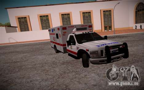 Ford F350 Super Duty San Andreas Emerency Medica für GTA San Andreas