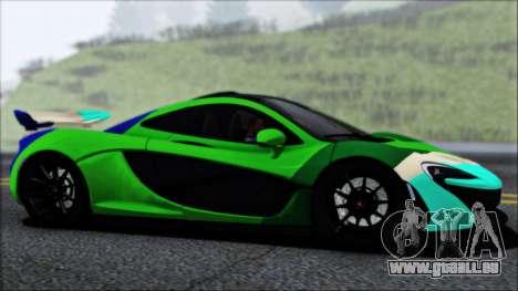 McLaren P1 2014 pour GTA San Andreas vue de dessous