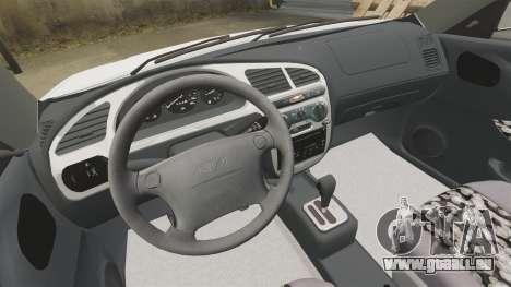 Daewoo Lanos GTI 1999 Concept pour GTA 4 est une vue de l'intérieur