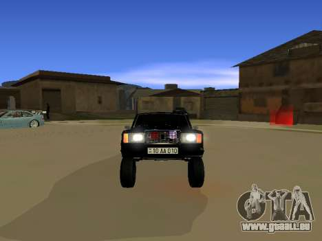 ВАЗ 2107 pour GTA San Andreas sur la vue arrière gauche