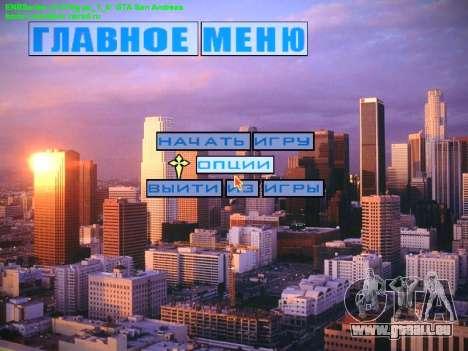 Nouveau menu et une nouvelle police pour GTA San Andreas deuxième écran