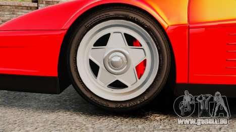 Ferrari Testarossa 1986 pour GTA 4 Vue arrière