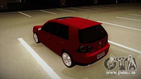 VW Golf GTI 2008 für GTA San Andreas Rückansicht