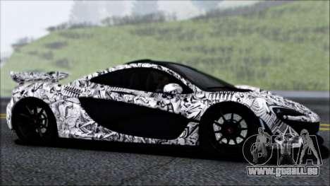 McLaren P1 2014 pour GTA San Andreas vue de dessus