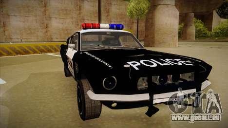 Shelby Mustang GT500 Eleanor Police pour GTA San Andreas laissé vue