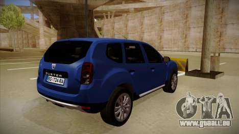 Dacia Duster SUV 4x4 pour GTA San Andreas vue de droite