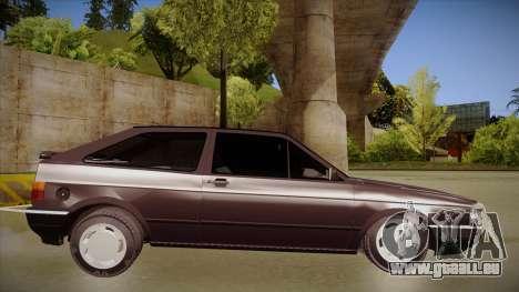 Volkswagen Gol pour GTA San Andreas sur la vue arrière gauche