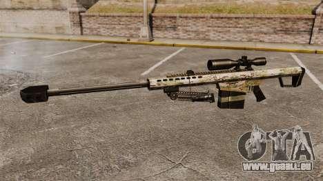 Le Barrett M82 sniper rifle v14 pour GTA 4 troisième écran