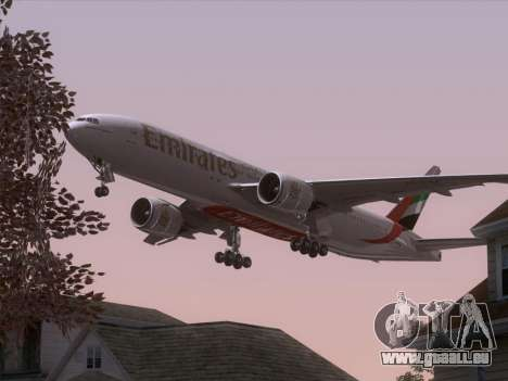 Boeing 777-21HLR Emirates pour GTA San Andreas roue