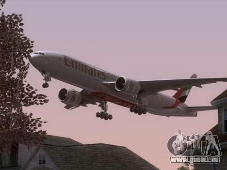 Boeing 777-21HLR Emirates für GTA San Andreas Räder