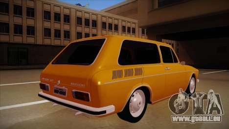 VW Variant 1972 pour GTA San Andreas vue de droite