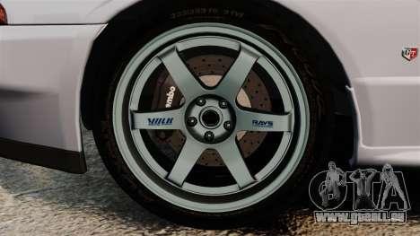 Nissan Skyline GT-R (R32) für GTA 4 Rückansicht