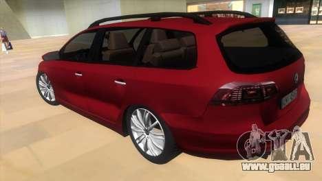 Volkswagen Passat B7 2012 pour une vue GTA Vice City de la gauche