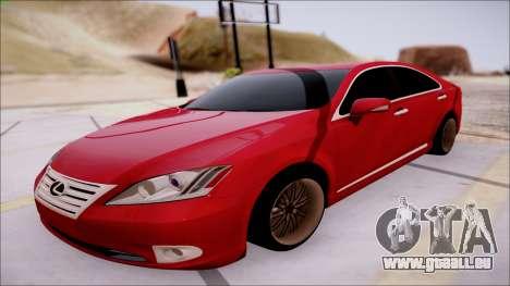 Lexus ES350 2010 pour GTA San Andreas laissé vue