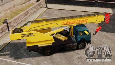 MAZ KS3577-4-1 Ivanovets pour GTA 4 est une gauche