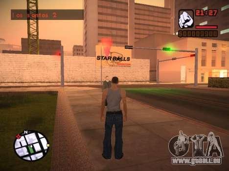 Nouveau menu et une nouvelle police pour GTA San Andreas onzième écran