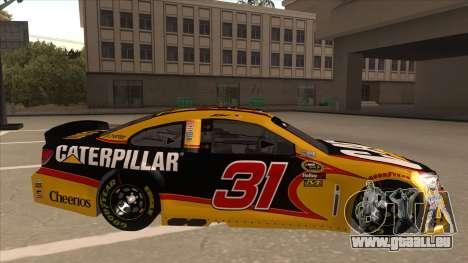 Chevrolet SS NASCAR No. 31 Caterpillar für GTA San Andreas zurück linke Ansicht