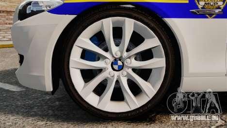 BMW M5 Touring Croatian Police [ELS] pour GTA 4 Vue arrière